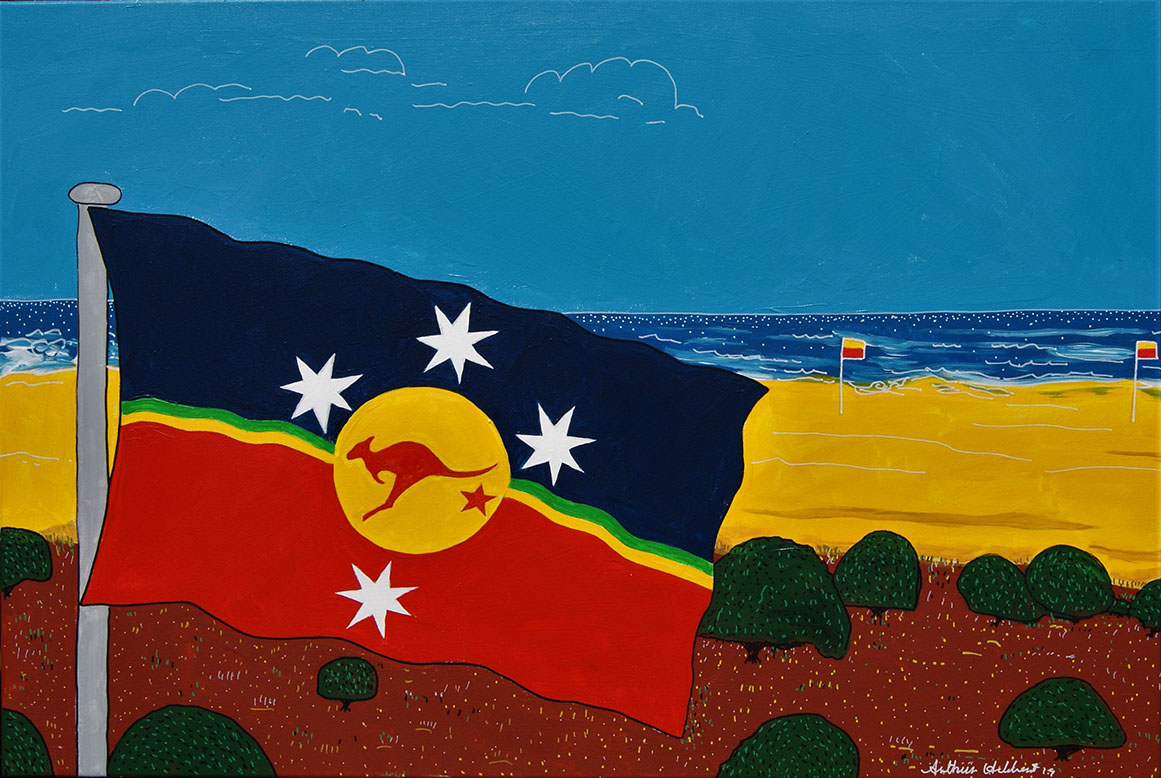 Flag and seascape 2019