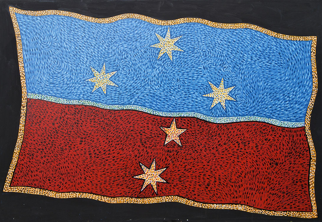 Large flag painting 2006