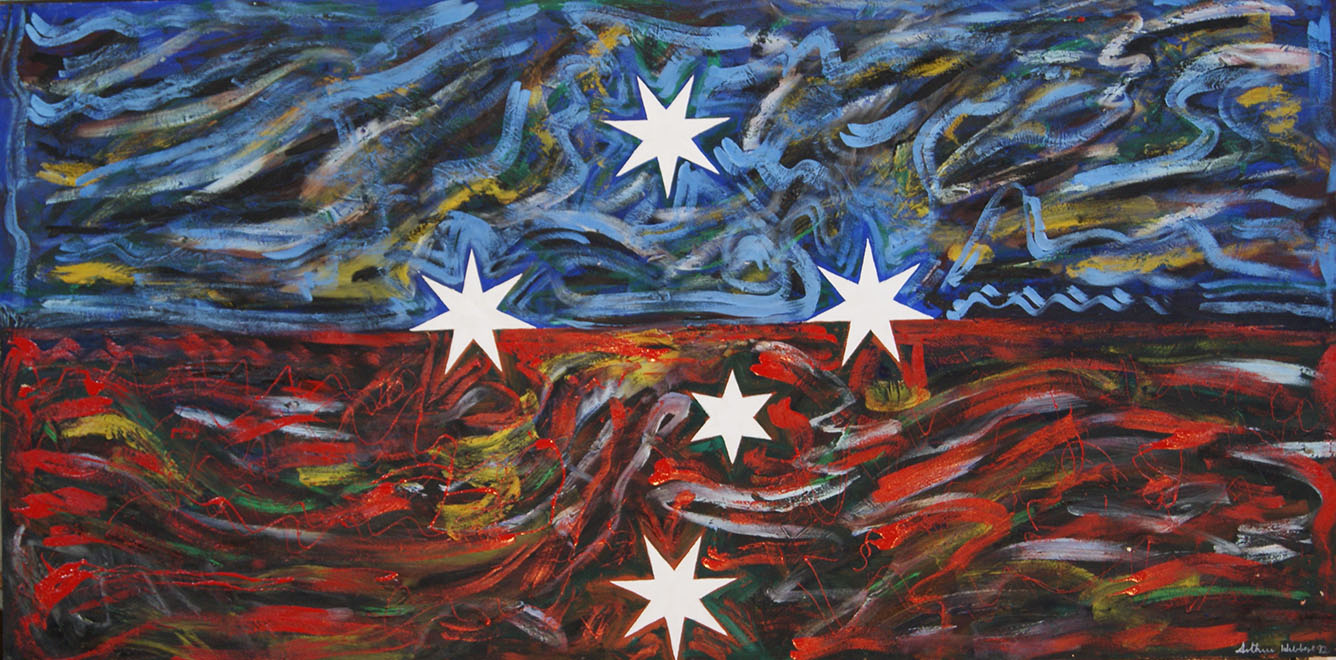 Southern Cross in dark landscape 1995